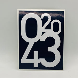 02043 Navy Stickers