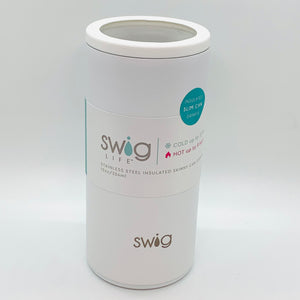 Swig Matte Skinny Can Cooler White