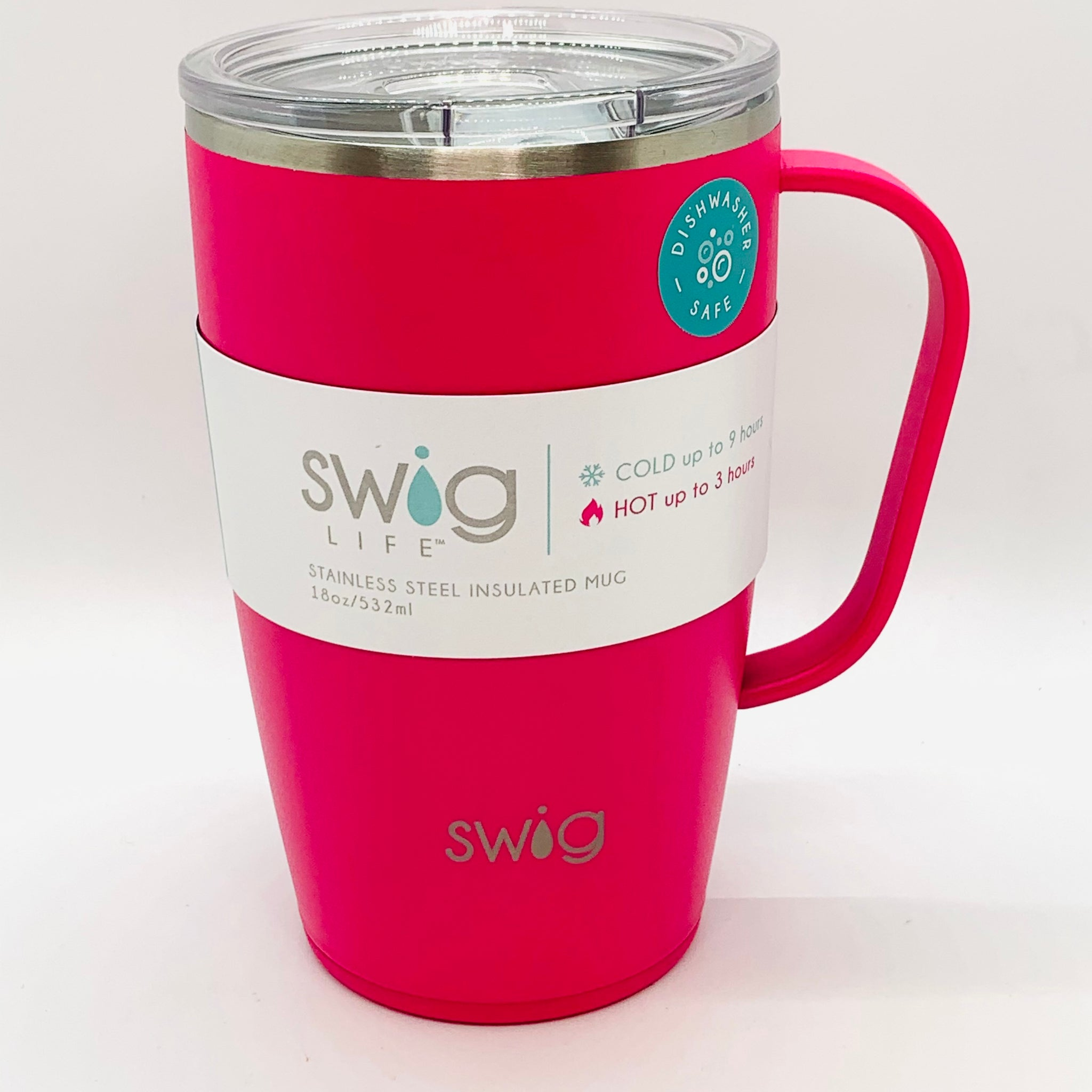 Swig Matte Travel Mug Hot Pink