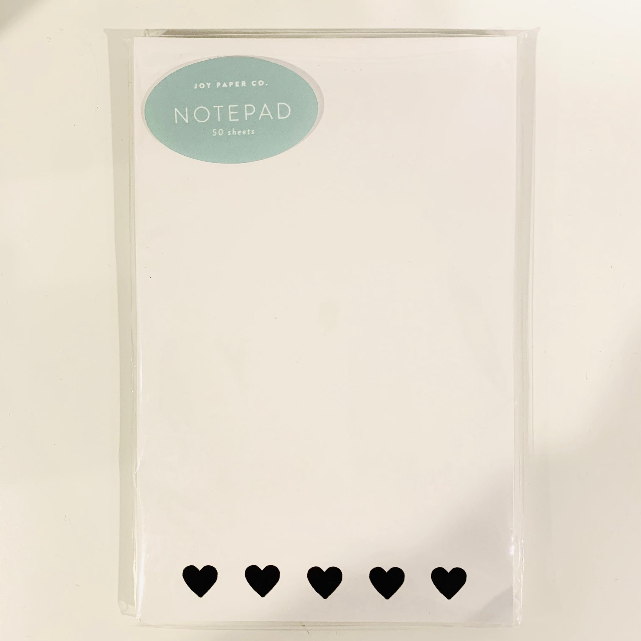 Black Hearts Notepad