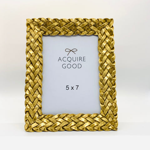 Gold Braid Picture Frame 5x7