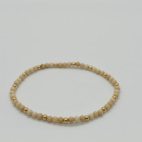 Riverstone & Gold Sincerity Bracelet