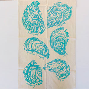 Oyster Tea Towel (Mint)