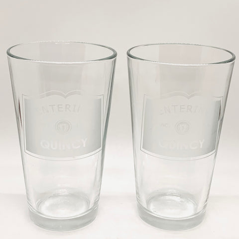 'Entering Quincy' Pint Glasses (Set of 2)