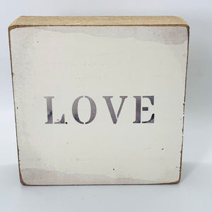 Love (gray) Block