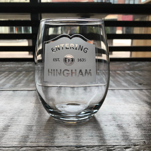 Entering 'Your Town' Stemless Glass