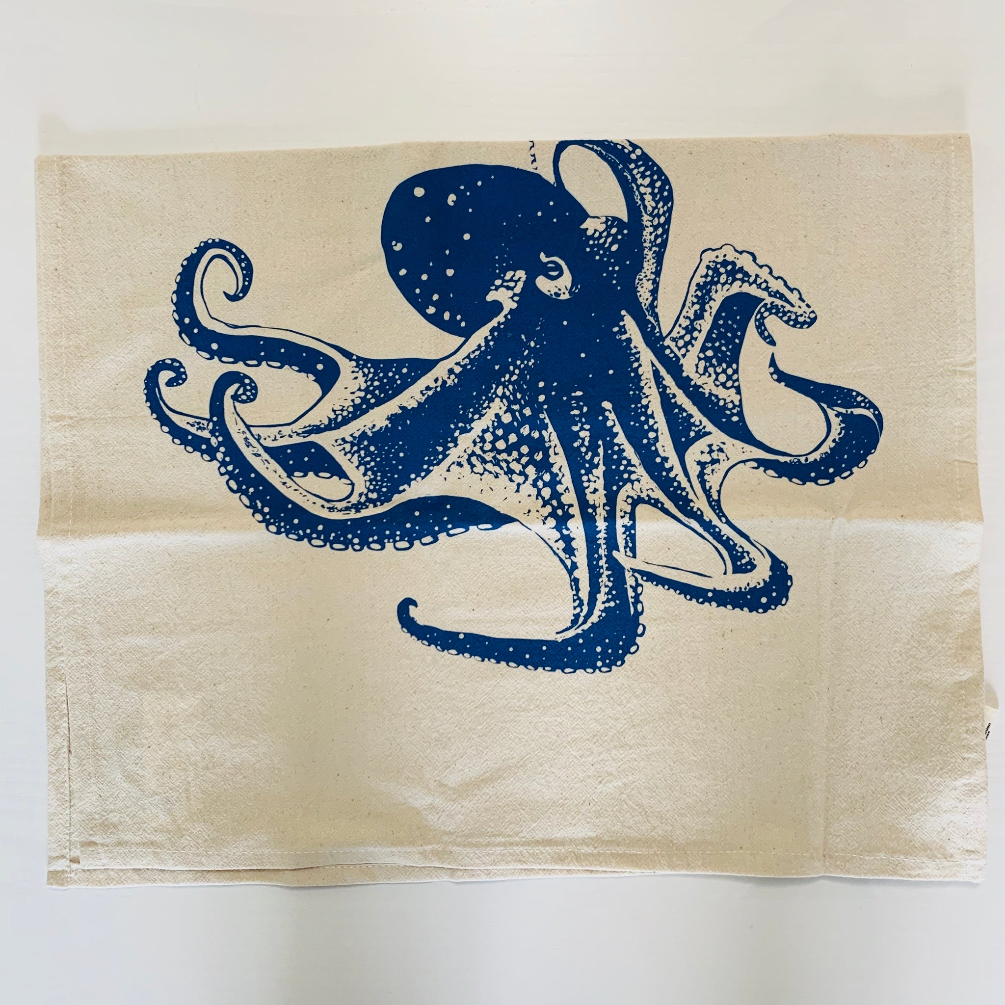 Octopus Tea Towel (Blue-Violet)