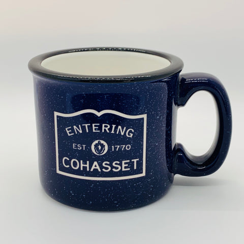 Entering Cohasset Colbalt Camp Mug