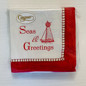 Seas & Greetings Holiday Cocktail Napkins