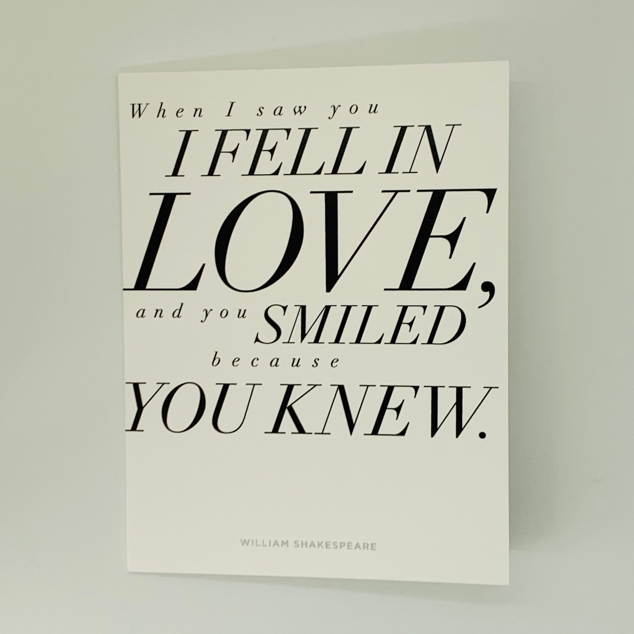 Love:  Shakespeare Quote