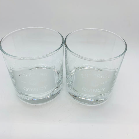 'Entering Quincy' Rocks Glass (Set of 2)