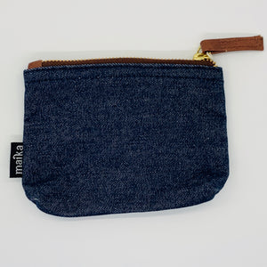 Indigo Denim Canvas Pouch _Small
