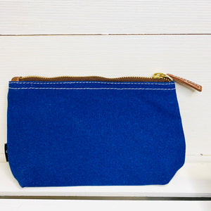 Waxed Navy Canvas Pouch _ Small