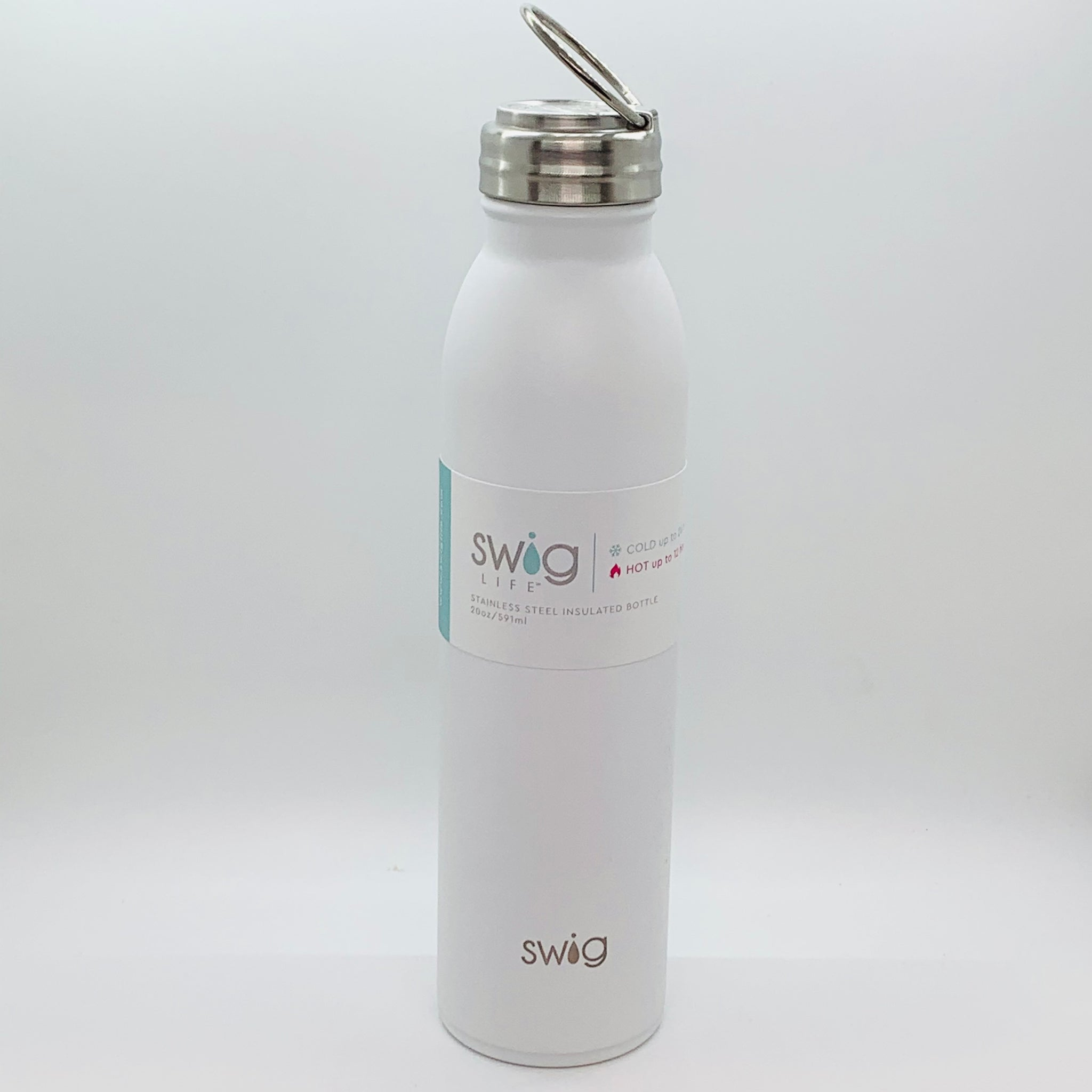 Swig Matte Bottle White