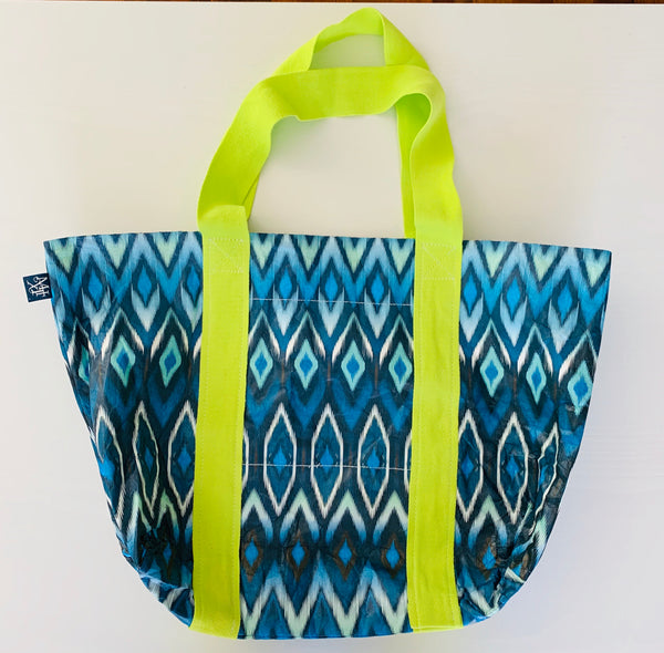 Indigo Splash Reversible Tote