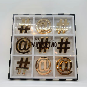White/Gold Tic Tac Toe