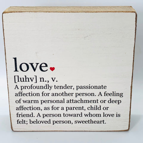 Love Definition Block