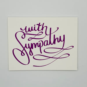 With Sympathy Purple