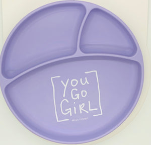Plate:  You Go Girl