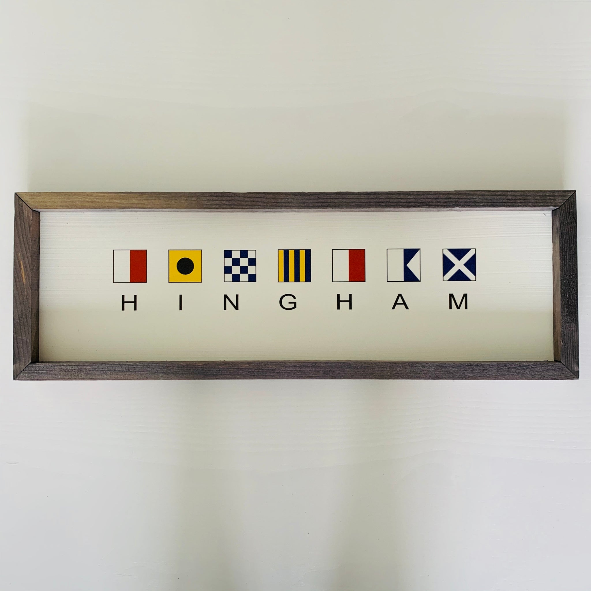 Hingham + Nautical Flags Sign