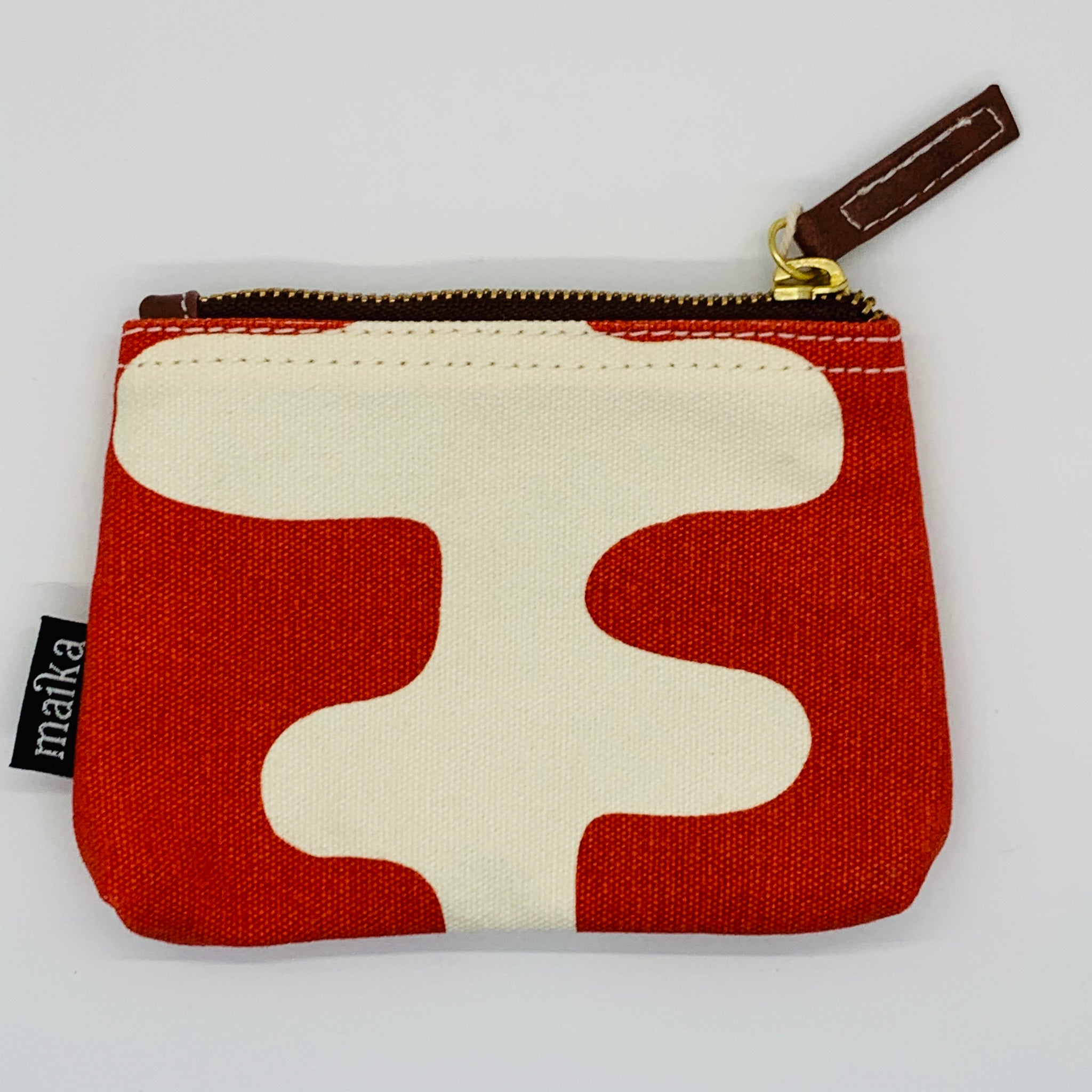 Echo Tangerine Canvas Pouch Small