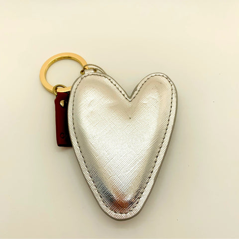 Mega Silver Heart Shaped Keyring