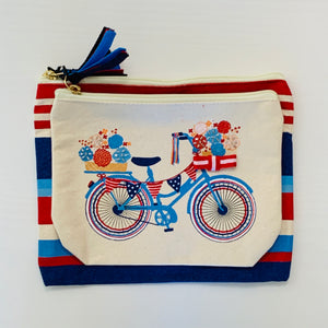 Red, White and Blue Pouch