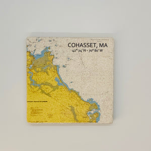 Cohasset NOAA Map with Coordinates