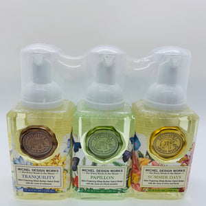 Mini Foaming Hand Soap Set:  Tranquility, Papillon, Summer Days