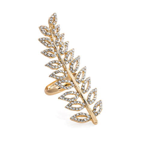 Classy Leaf Ring - SJ Fashion Outlet JEWELLERY ACCESSORIES FASHION HANDBAGS PURSES