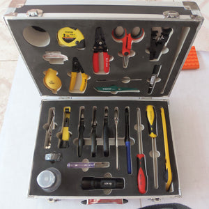 25PCS  fiber optic cable connecting box Ftth optical cableconstruction tools set and fiber optic construction toolbox by DHL