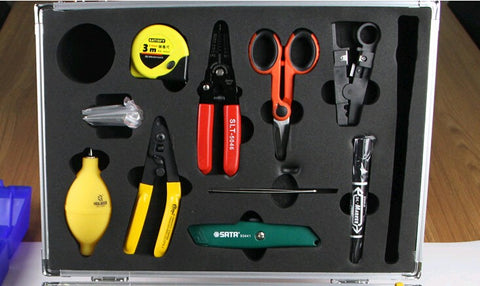 Image of 25PCS  fiber optic cable connecting box Ftth optical cableconstruction tools set and fiber optic construction toolbox by DHL