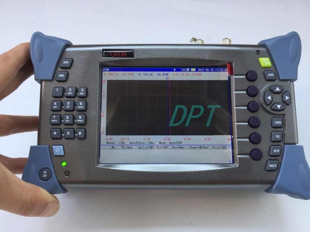 In Stock Optical Fiber SM OTDR Tester OT2000 1310/1550nm 15/16dB With 5mW Visual Fault Locator (VFL) FTTx Cable Tester