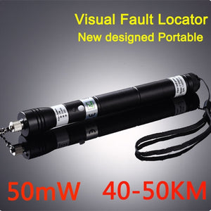 50mW 40~50KM NEW Handheld Visual Fault Locator VFL Red Laser Light Fiber Optic Cable Tester Optical Fiber Laser Pointer,VD-VFL50