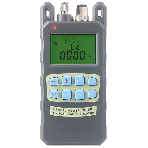 Image of All-IN-ONE Fiber optical power meter -70 to +10dBm and 10mw 10km Fiber Optic Cable Tester Visual Fault Locator