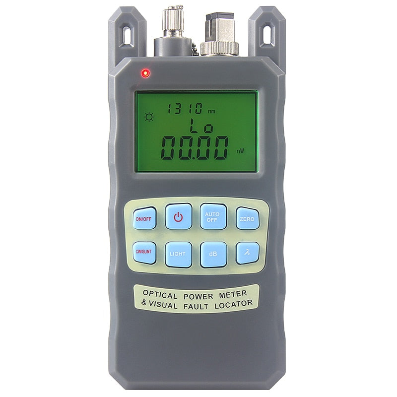 All-IN-ONE Fiber optical power meter -70 to +10dBm1mw 5km Fiber Optic Cable Tester Visual Fault Locator FTTH Tester Tool