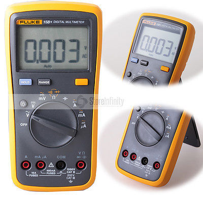 Image of Fluke 15B+ Plus Auto Range Digital Probe Multimeter