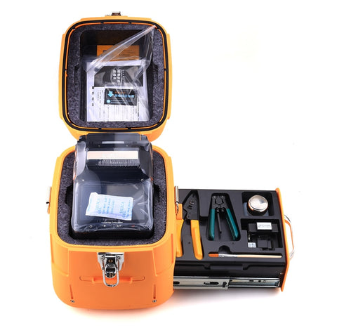Image of signalfire SM&MM  Automatic FTTH  Fiber Optic Welding Splicing Machine Optical Fiber Fusion Splicer AI-7