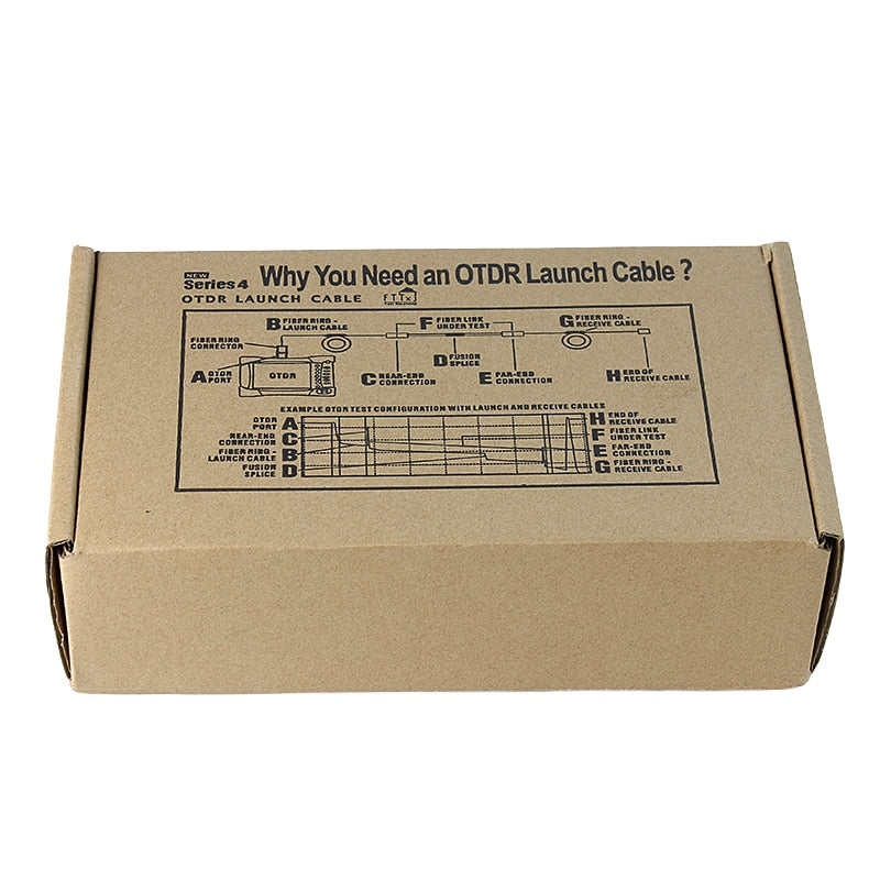 Free shipping SC/UPC-SC/APC OTDR Dead Zone Eliminator,Fiber Rings ,Fiber Optic OTDR Launch Cable Box 1km SM 1310/1550nm