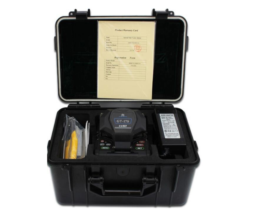 Fiber Fusion splicing machine GT-17S Fiber Optic Fusion Splicer GT-17S FTTH Optical Fiber Fusion Splicer English menu BY DHL