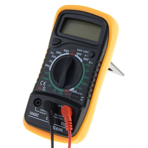 Image of Portable Digital Multimeter Backlight AC/DC Ammeter Voltmeter Ohm Tester Meter XL830L Handheld LCD Multimetro