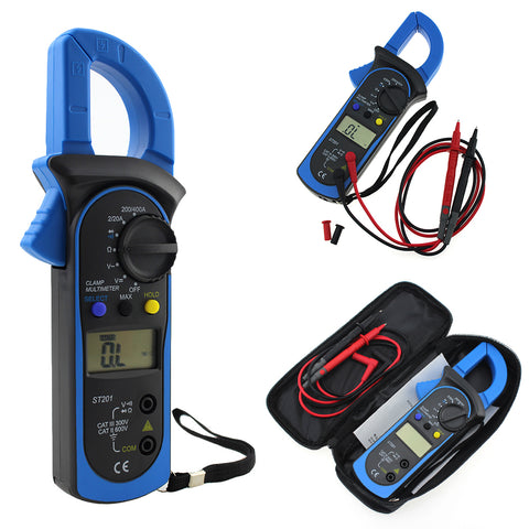 Digital Multimeter Amper Clamp Meter Current Clamp Pincers AC/DC Current Voltage Tester Test Probe