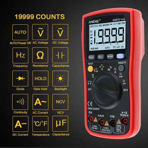 AN870 Auto Range Digital Precision multimeter True-RMS 19999 COUNTS