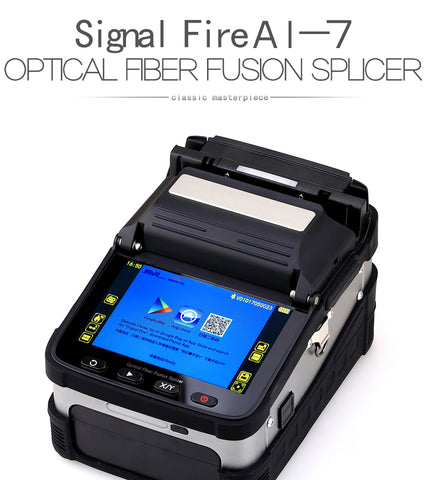 Image of AI-7 SM&MM Automatic FTTH Optical Fiber Fusion Splicer Fiber Optic Splicing Machine Optical Fiber AI-7 Fusion Splicer KELUSHI