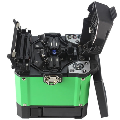 Image of A-80S Green Automatic Fusion Splicer Machine Fiber Optic Fusion Splicer Fiber Optic Splicing Machine Optical Welding Machine