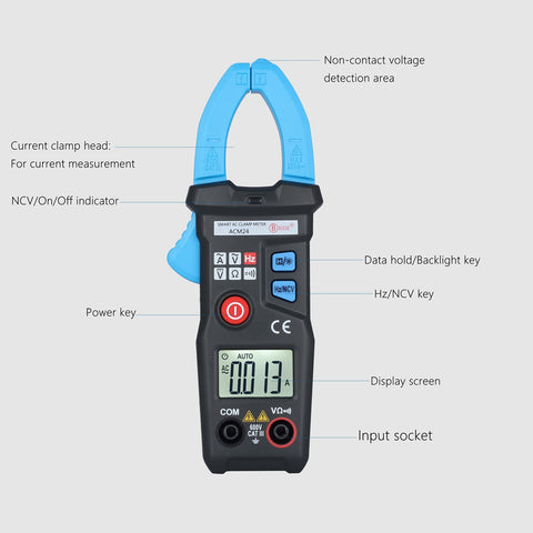 Smart Mini Digital AC Clamp Meter