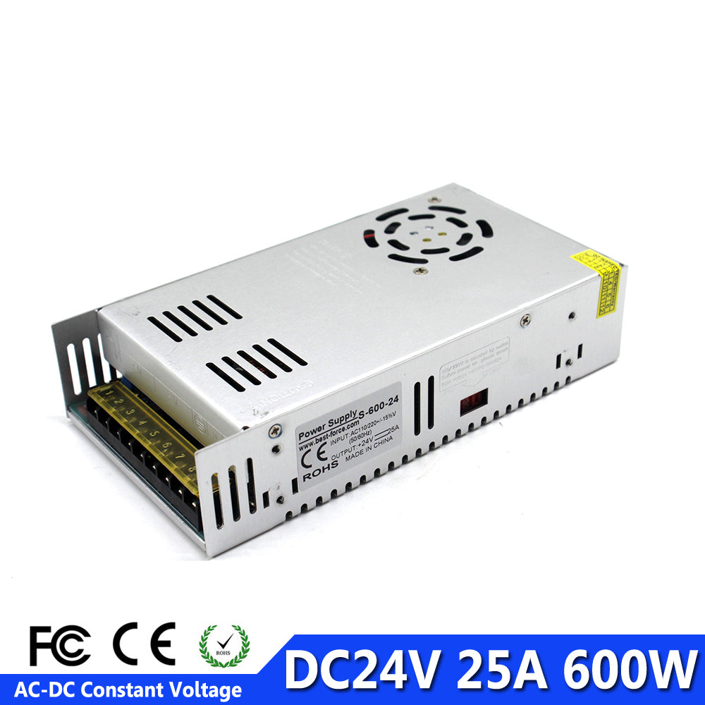 DC Power Supply 24V 25A 600w Led Driver Transformer 110V 220V AC to DC24V