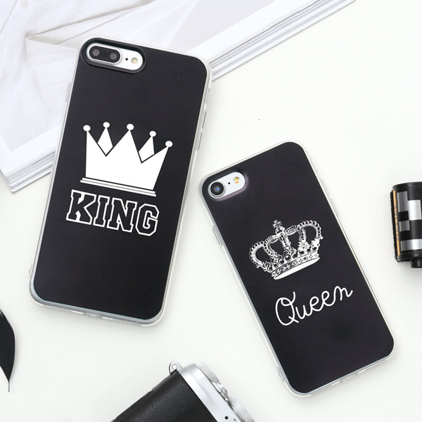 Romantic KING Queen Phone cover Case for all iPhones