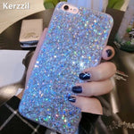 Luxurious Shining Silicon Powder Sequins Cases For all iPhones
