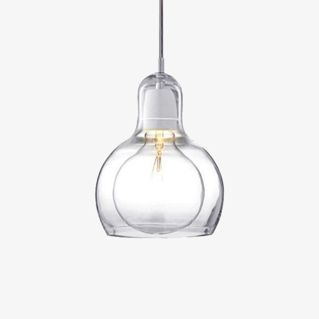 Suspension design LED en verre Loft